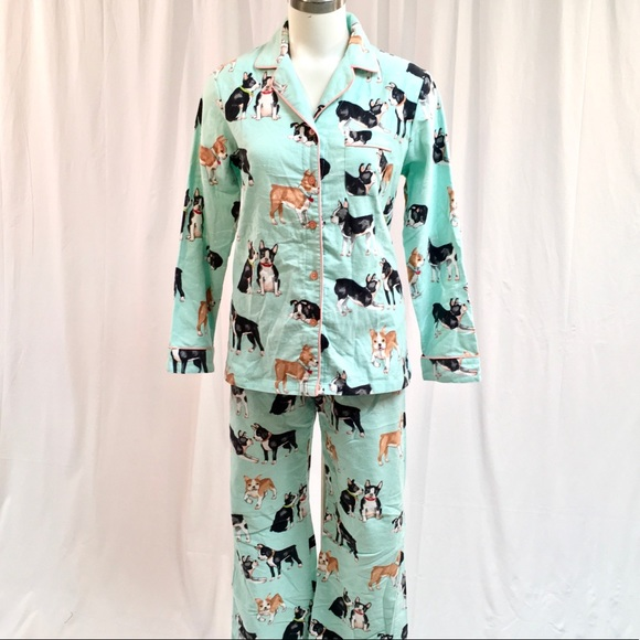 c716bdc691 Boston Terrier Flannel Pajamas. M 5a50ef562ae12f1ed300a44b